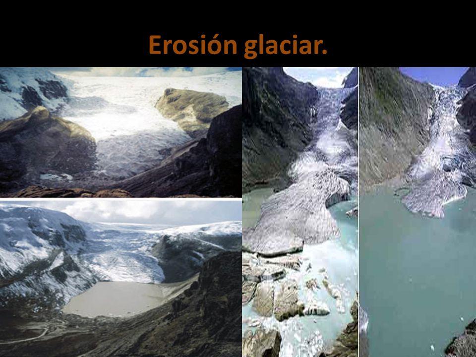 Erosión glaciar.
