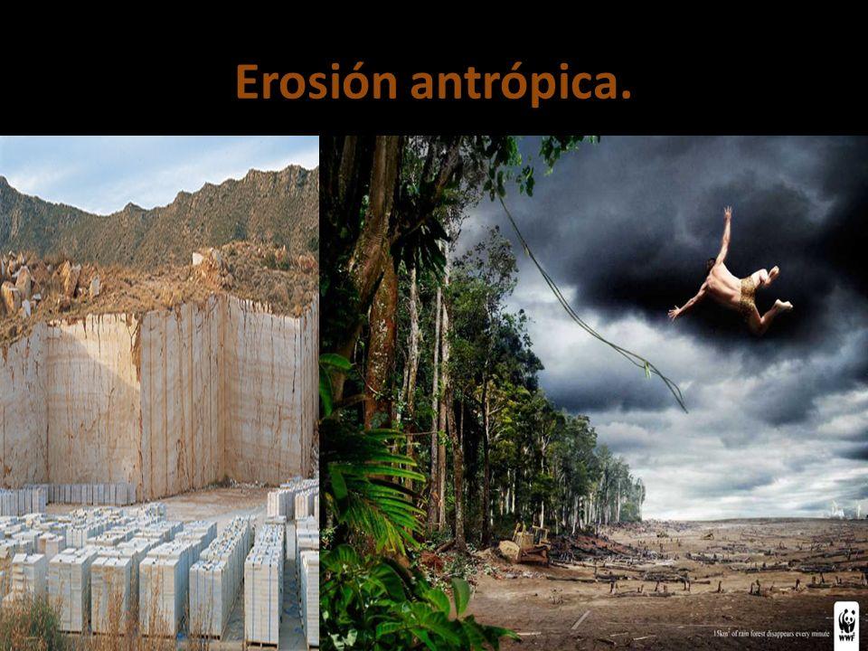 Erosión antrópica.