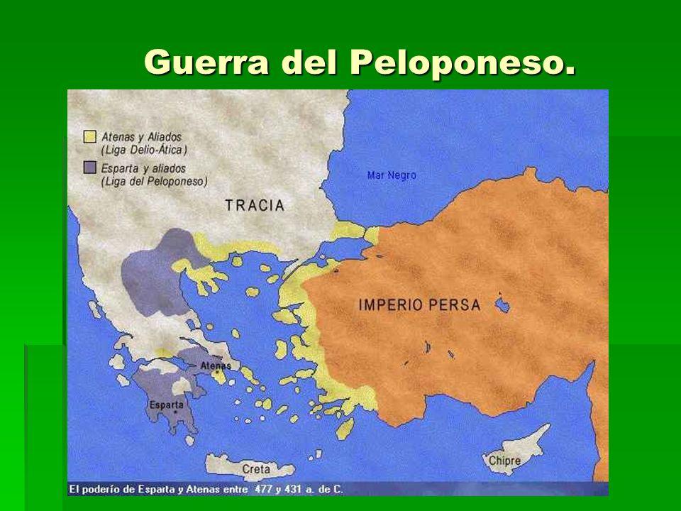Guerra del Peloponeso. Guerra del Peloponeso.