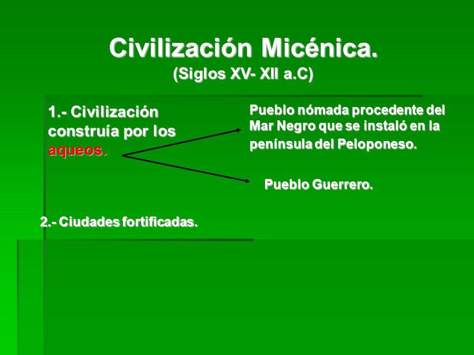 Edad Oscura.Edad Oscura. (siglos XII- VIII a.C). (siglos XII- VIII a.C).