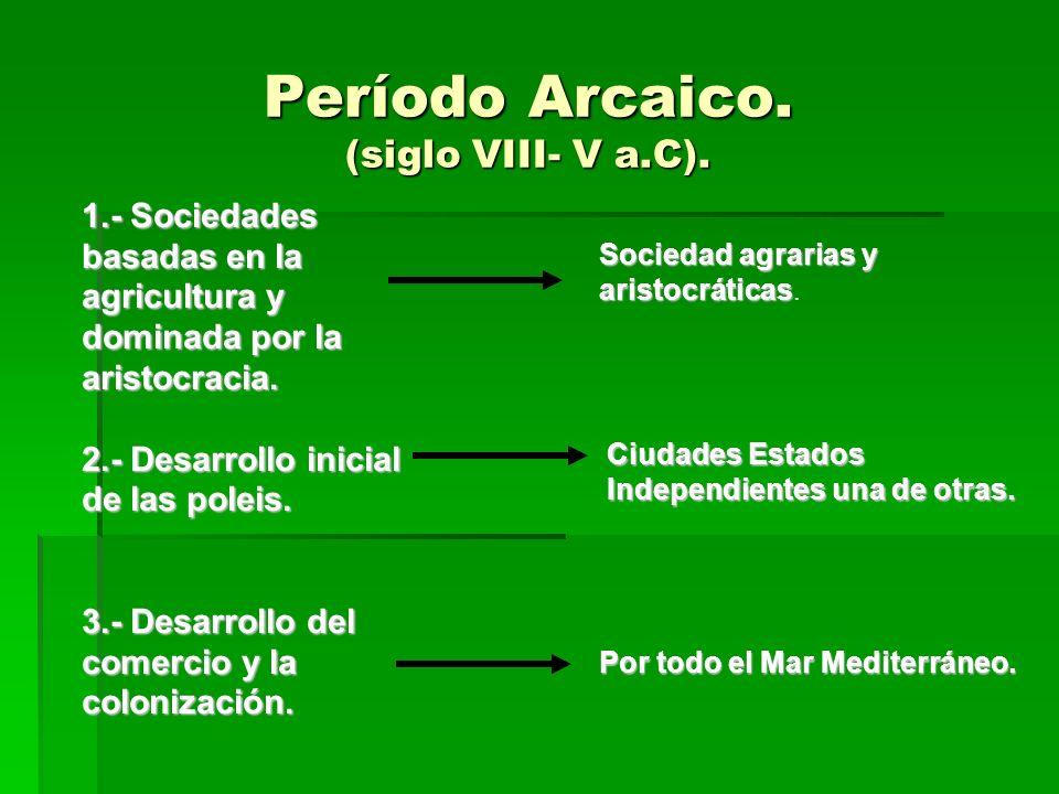 Período Arcaico.(siglo VIII- V a.C).