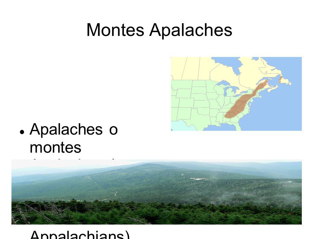 Montes Apalaches Apalaches o montes Apalaches (en inglés Appalachian Mountains o Appalachians), es una importante cordillera de Norteamérica ubicada a