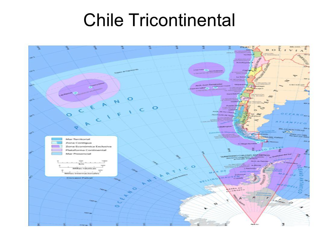 Relieves de Chile Ubicado en el extremo sudoeste de América del Sur, dentro de la región llamada Cono Sur, Chile continental presenta un alto desarrollo latitudinal y escaso desarrollo longitudinal, extendiéndose por 39 grados de latitud desde el punto tripartito con Perú y Bolivia hasta las Islas Diego Ramirez, principalmente en el área de latitudes medias el Trópico de Capricornio, cruza el norte del país.