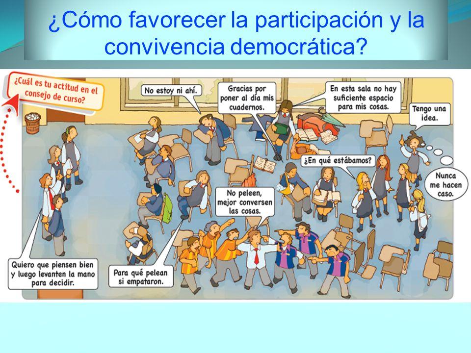 ¿Cómo favorecer la participación y la convivencia democrática?