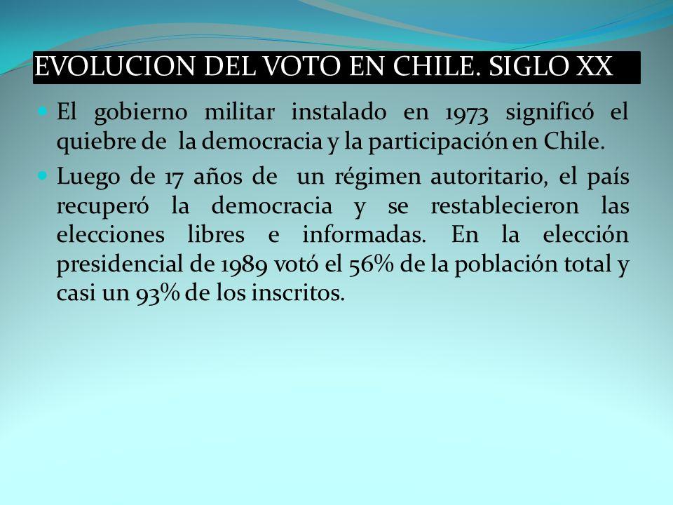 El gobierno militar instalado en 1973 significó el quiebre de la democracia y la participación en Chile. Luego de 17 años de un régimen autoritario, e