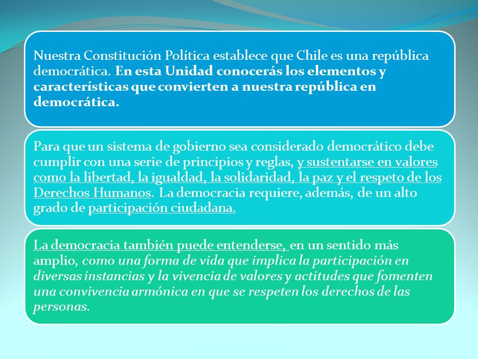 EVOLUCION DEL VOTO EN CHILE.