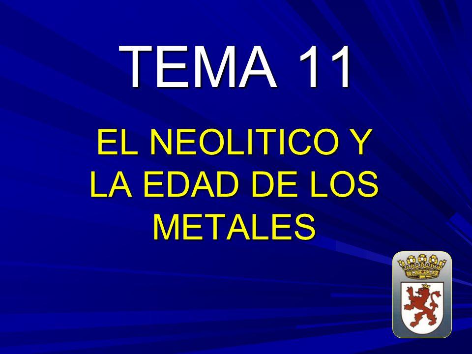 TEMA 11 EL NEOLITICO Y LA EDAD DE LOS METALES