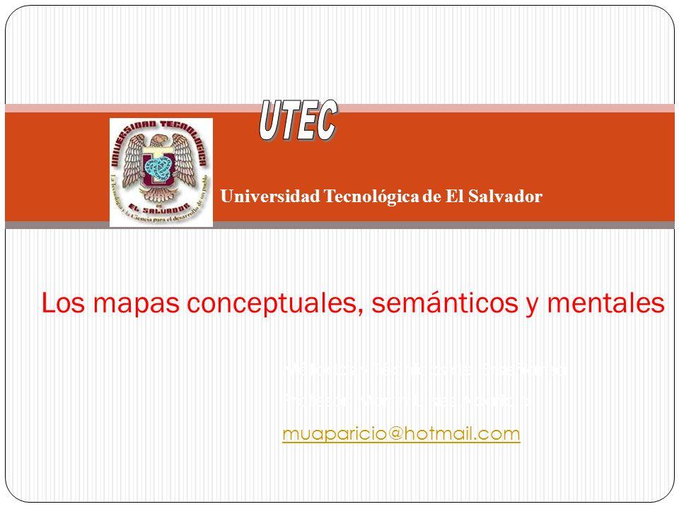 Los mapas conceptuales, semánticos y mentales Métodos y Técnicas de Enseñanza Profesor: Martín Ulises Aparicio muaparicio@hotmail.com Universidad Tecn