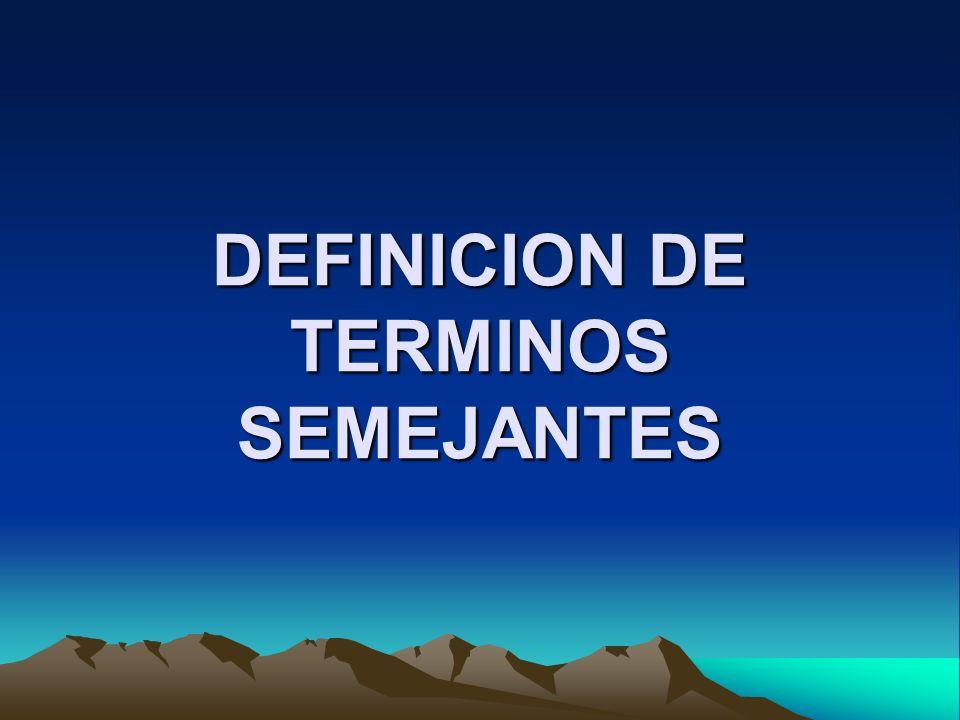 DEFINICION DE REDUCCION DE TERMINOS SEMEJANTES