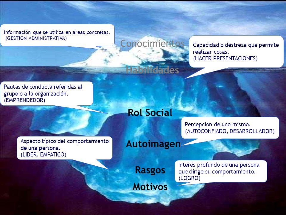 Capacidad o destreza que permite realizar cosas. (HACER PRESENTACIONES) Información que se utiliza en áreas concretas. (GESTION ADMINISTRATIVA) Pautas