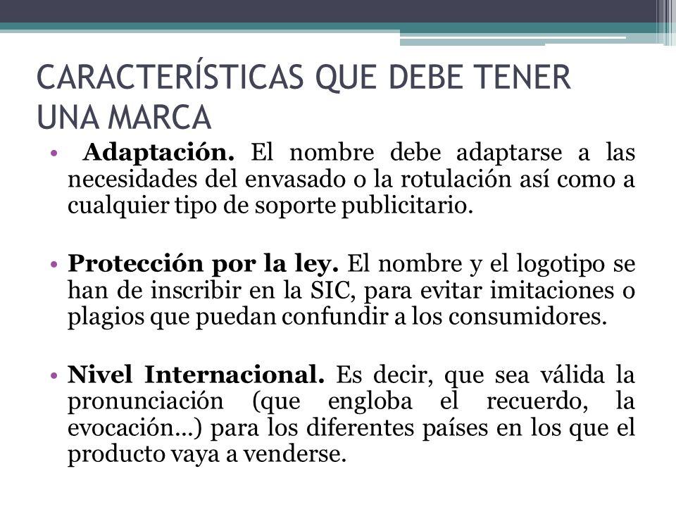 VENTAJAS DE MARCA CONSOLIDADA Diferenciación frente a la competencia.