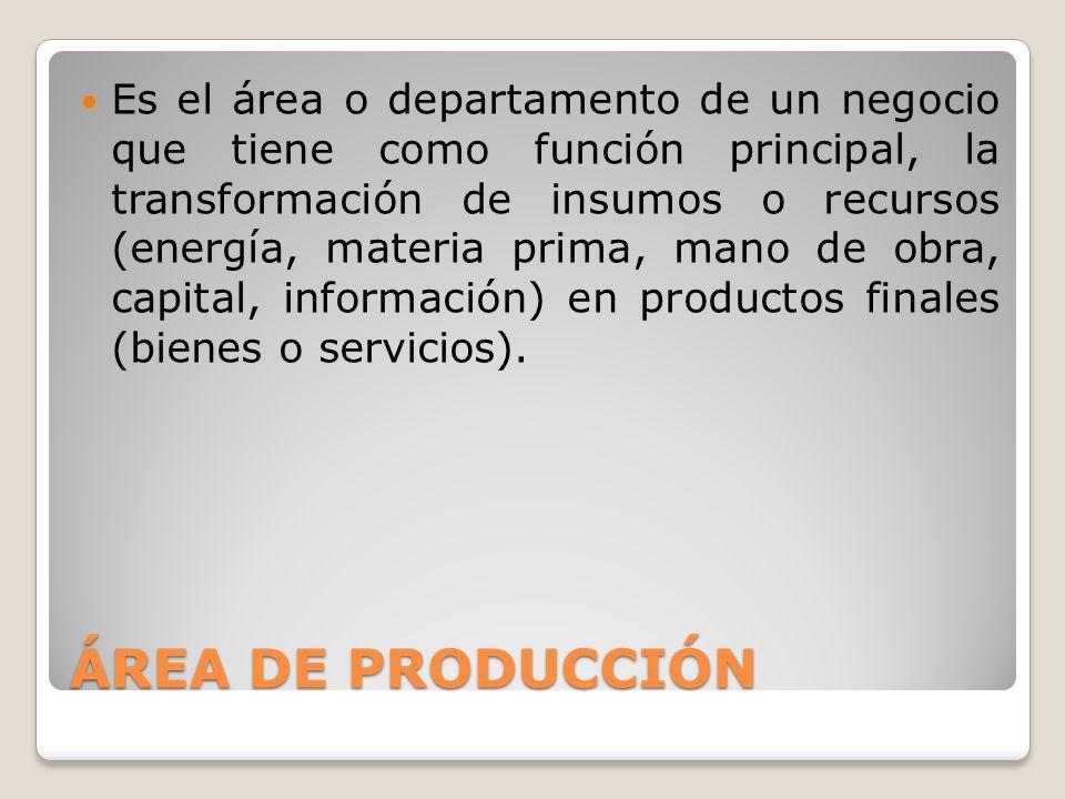 ÁREA FINANCIERA O CONTABLE La función principal del departamento financiero es obtener y administrar los recursos monetarios de la empresa como es: - Invertirlos y asignarlos adecuadamente.