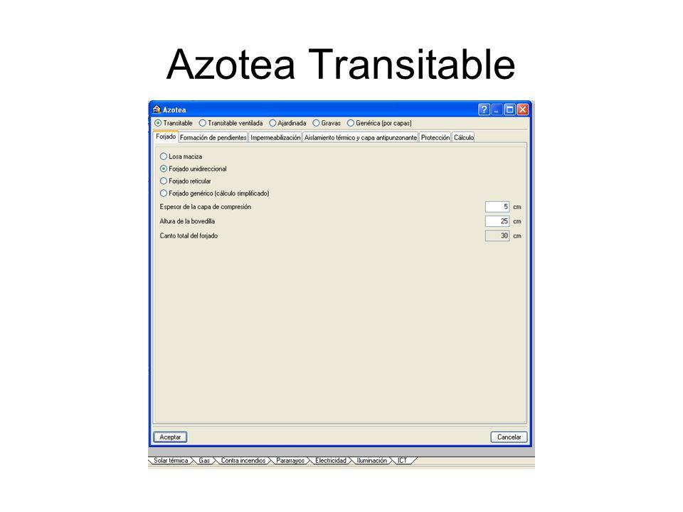 Azotea Transitable