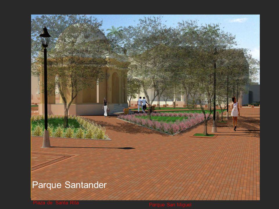 Plaza de BolívarPlaza de la Catedral Plaza de Santa Rita Parque San Miguel Parque Santander