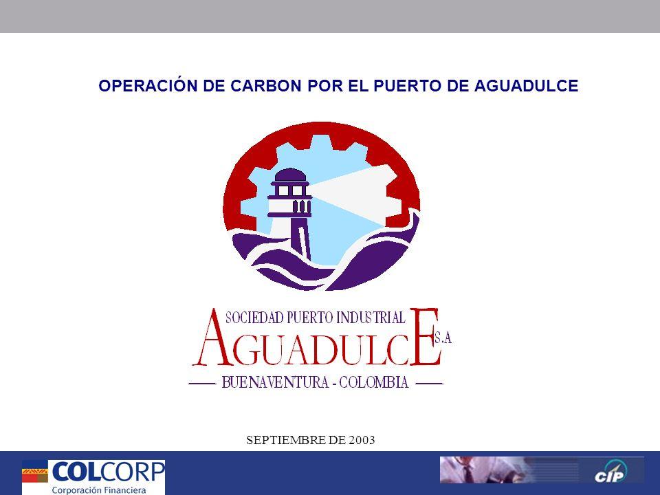 1 Versión Preliminar 1 SEPTIEMBRE DE 2003 OPERACIÓN DE CARBON POR EL PUERTO DE AGUADULCE