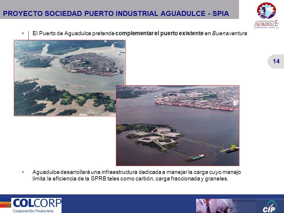 14 Versión Preliminar 14 Versión Preliminar PROYECTO SOCIEDAD PUERTO INDUSTRIAL AGUADULCE - SPIA El Puerto de Aguadulce pretende complementar el puert
