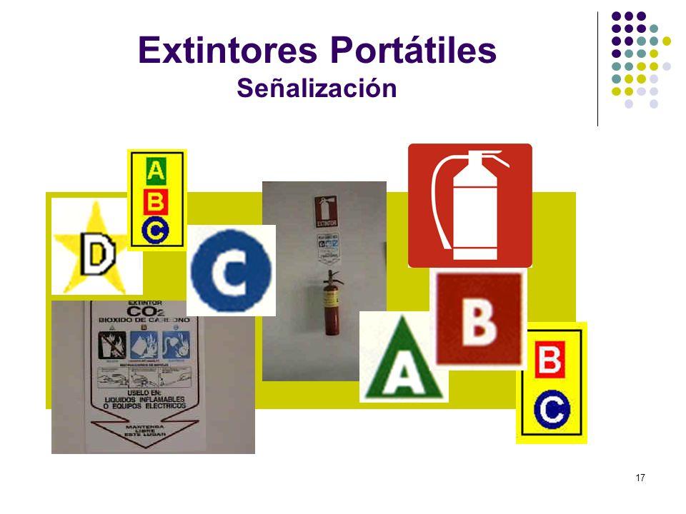 17 Extintores Portátiles Señalización