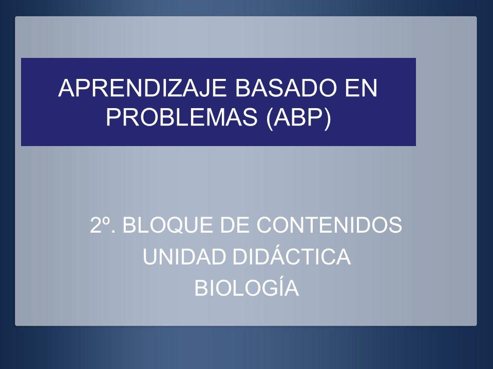 APRENDIZAJE BASADO EN PROBLEMAS (ABP) 2º. BLOQUE DE CONTENIDOS UNIDAD DIDÁCTICA BIOLOGÍA