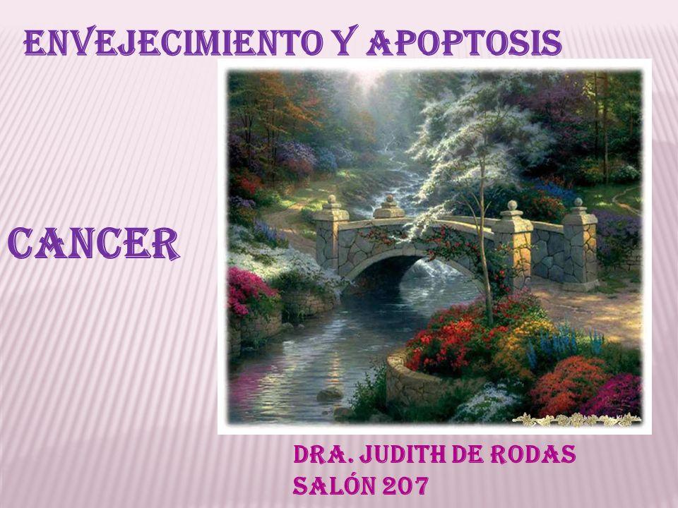 Envejecimiento y apoptosis Cancer Dra. Judith de Rodas Salón 207