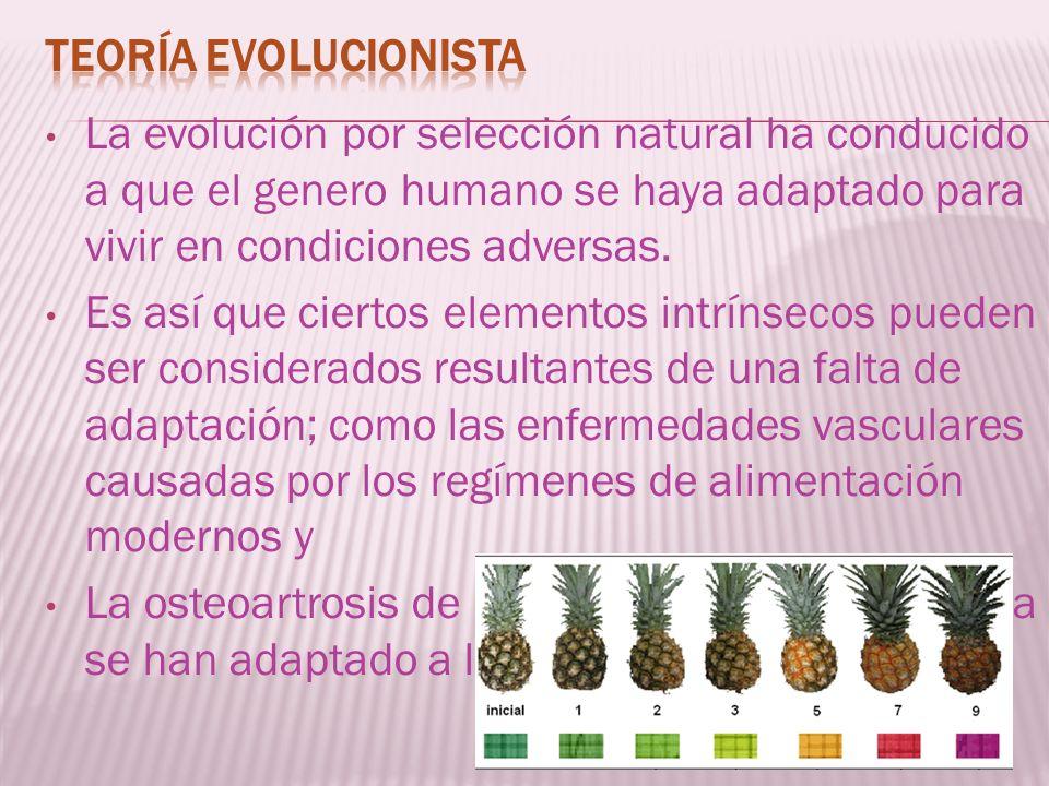 La evolución por selección natural ha conducido a que el genero humano se haya adaptado para vivir en condiciones adversas. Es así que ciertos element