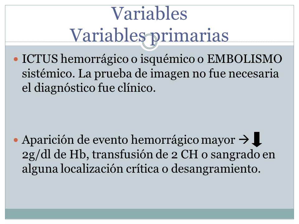 Variables secundarias Datos de IAM.Mortalidad por accidentes vasculares.