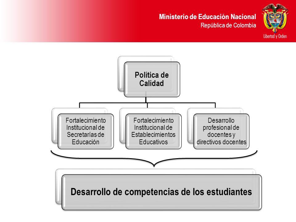 Ministerio de Educación Nacional República de Colombia Definición de acompañamiento proceso intencionado fortalecimiento de las competencias de los estudiantes Es un proceso intencionado y orientado hacia el mejoramiento de la calidad educativa, teniendo como foco primordial el fortalecimiento de las competencias de los estudiantes y se lleva a cabo en los sitios de trabajo, y no por fuera de los mismos.