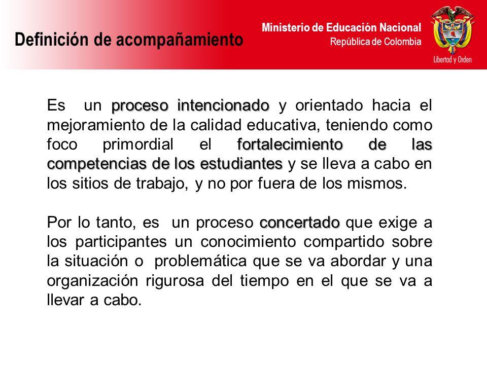 Ministerio de Educación Nacional República de Colombia Principios El esfuerzo conjunto y organizado de los participantes es el que permite alcanzar los objetivos propuestos.