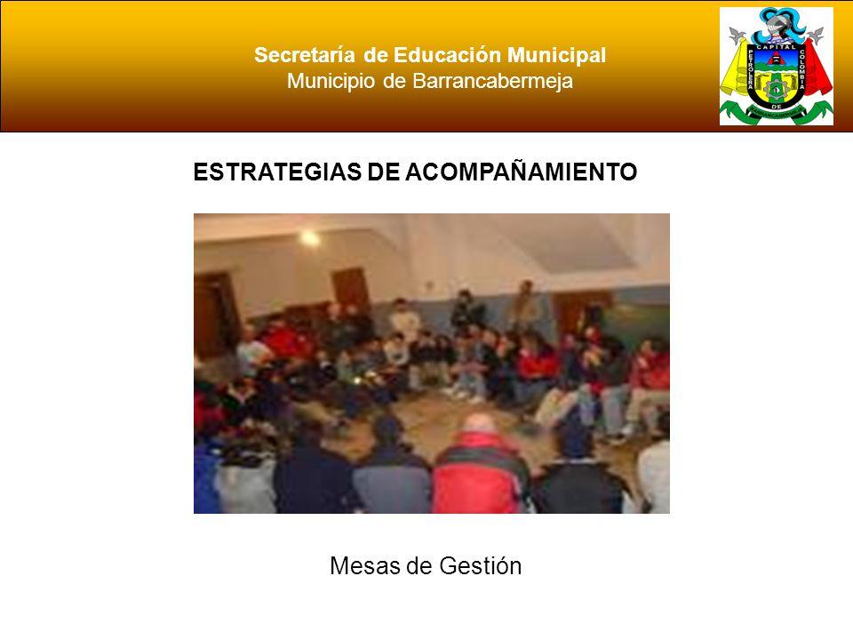 Secretaría de Educación Municipal Municipio de Barrancabermeja ESTRATEGIAS DE ACOMPAÑAMIENTO Equipo de calidad SEM Equipo de calidad EE
