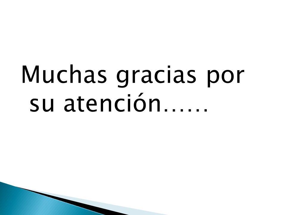 Muchas gracias por su atención……