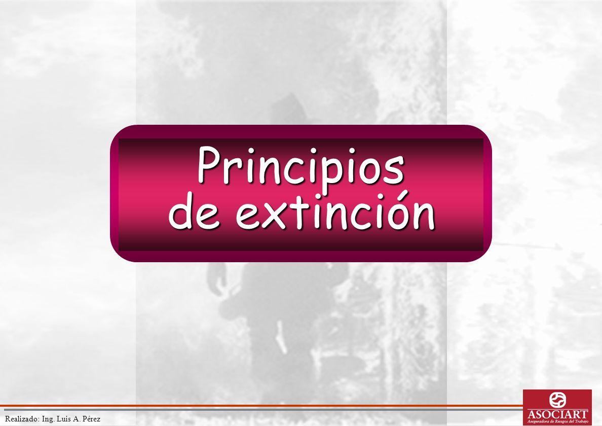 Realizado: Ing. Luis A. Pérez Principios de extinción