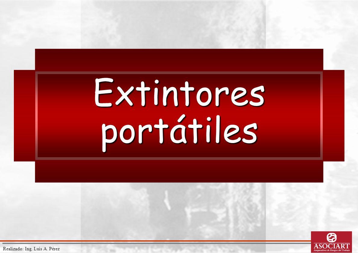 Realizado: Ing. Luis A. Pérez Extintores portátiles