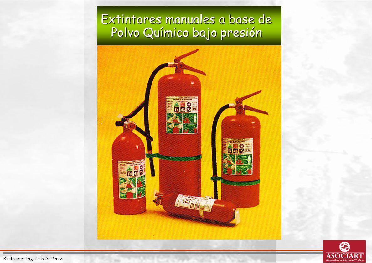 Realizado: Ing. Luis A. Pérez Extintores manuales a base de Polvo Químico bajo presión