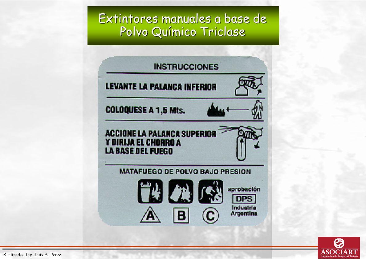 Realizado: Ing. Luis A. Pérez Extintores manuales a base de Polvo Químico Triclase