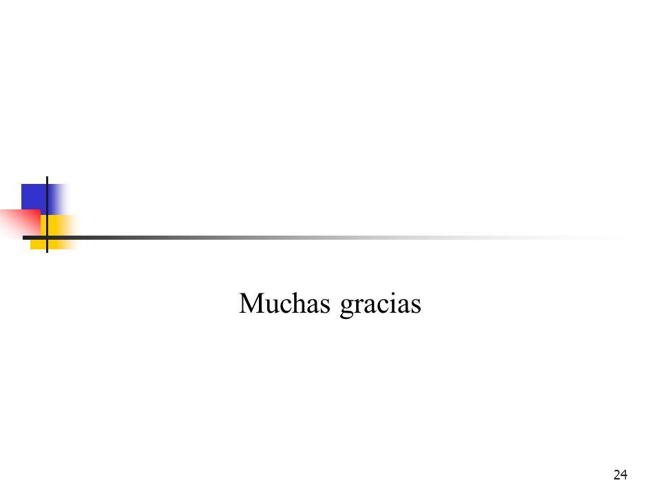 24 Muchas gracias