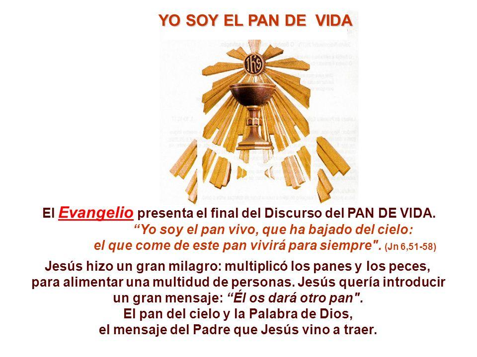 El Evangelio presenta el final del Discurso del PAN DE VIDA.