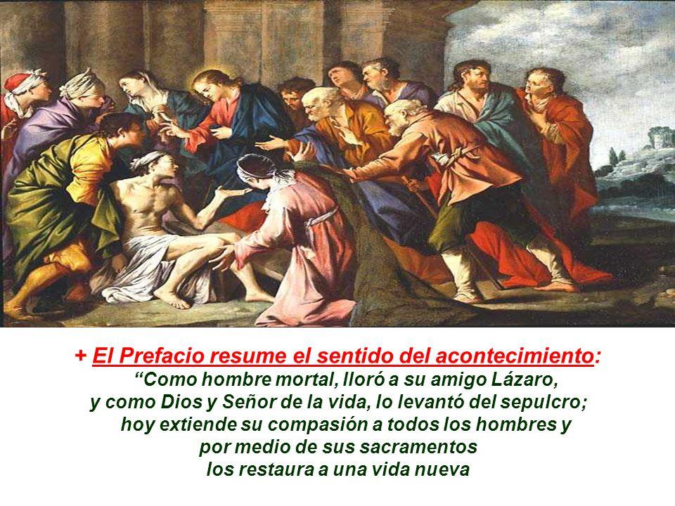 + Resurrección de Lázaro es una SEÑAL : (7 a y última antes de la Pasión) - La Resurrección de Lázaro es prefiguración de la Resurrección de Cristo.