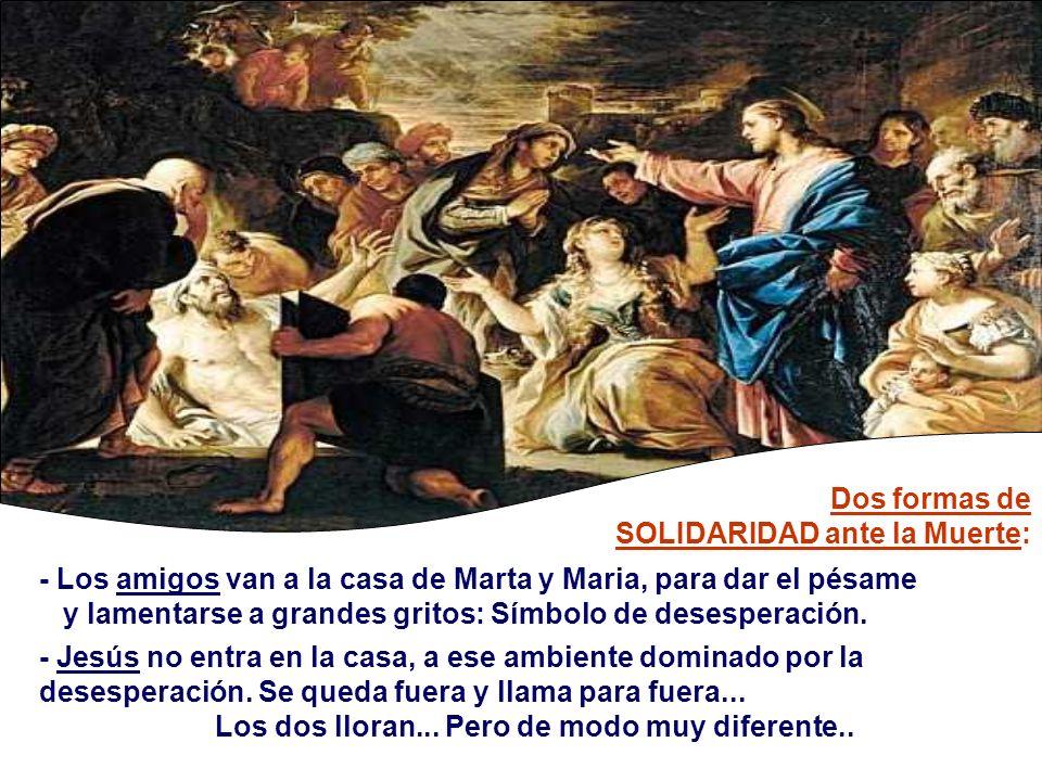 - El Diálogo: - Jesús afirma: Yo soy la resurrección y la Vida.