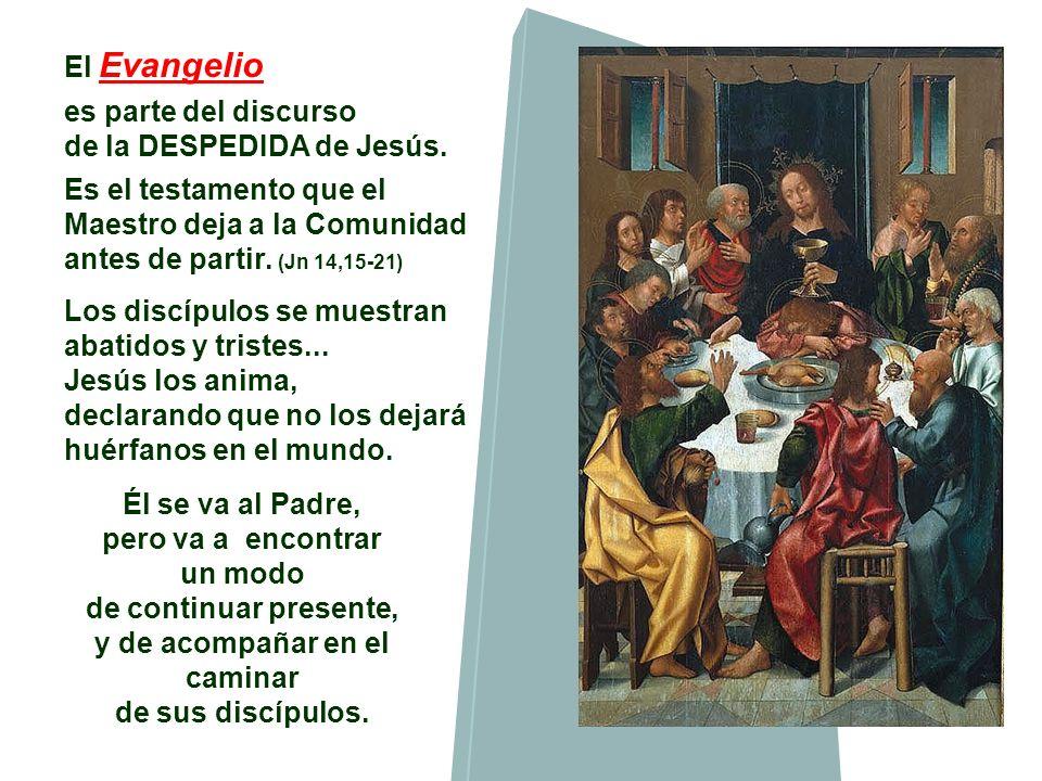 El Evangelio es parte del discurso de la DESPEDIDA de Jesús.