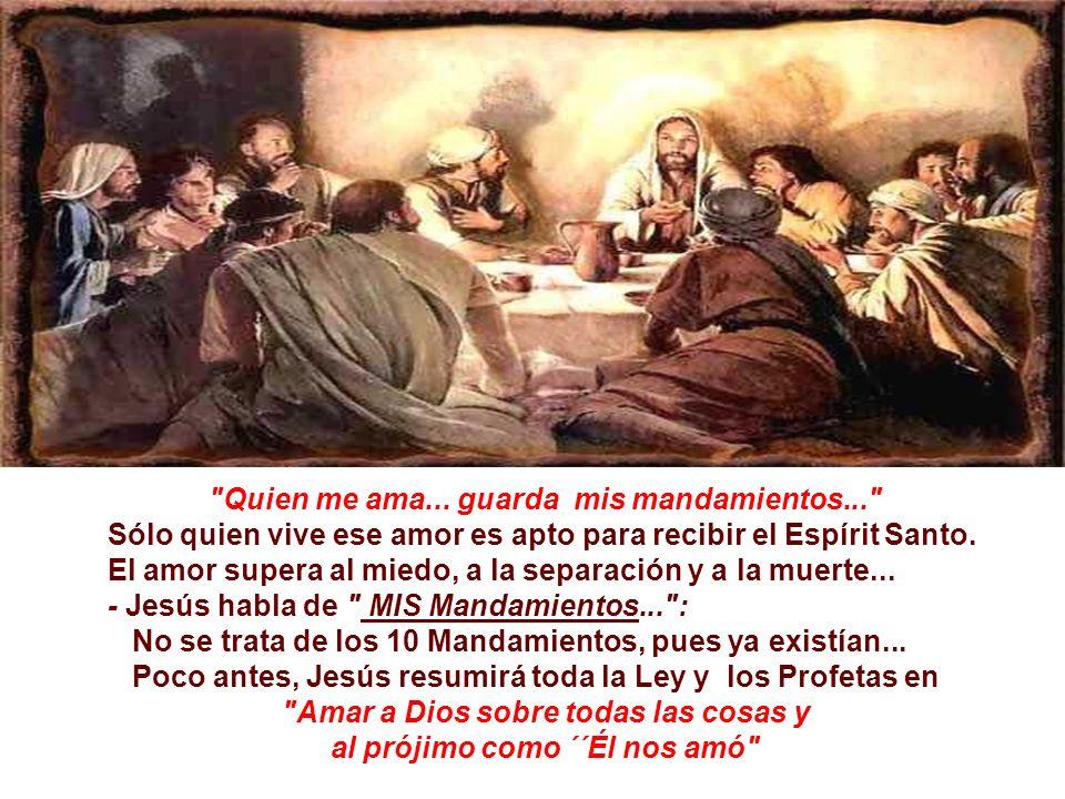 Es una alusión a su vuelta invisíble, pero real, mediante el Espíritu Santo, que lo sustituirá junto a los discípulos y permanecerá siempre con ellos