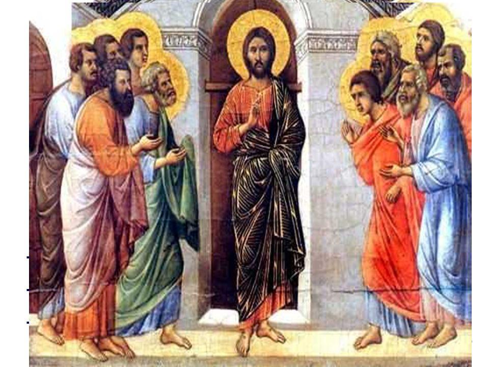 - Jesús aparece en medio de ellos .