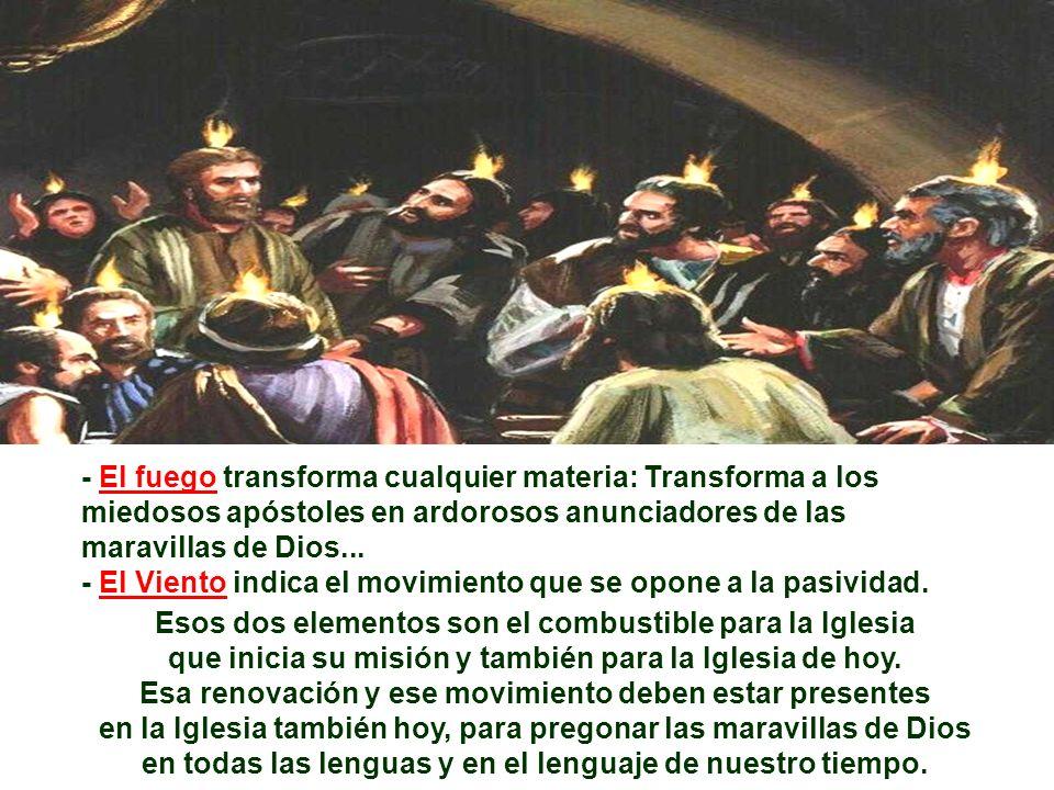 En la 1ª Lectura, Lucas presenta el hecho cincuenta días tras la Pascua, haciendo coincidir con el Pentecostés judío. (Hch 2,1-11) El interés del auto