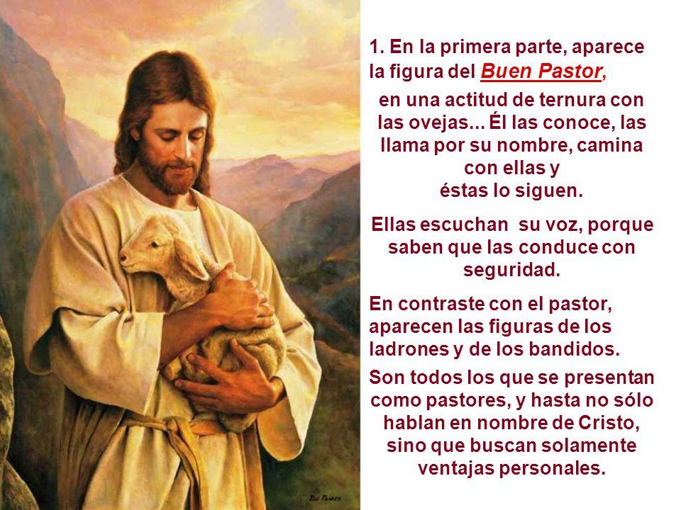 En el Evangelio Jesús se presenta como el Buen Pastor. Es una catequesis sobre la Misión de Jesús: conducir a los hombres a verdes prederas y a fuente