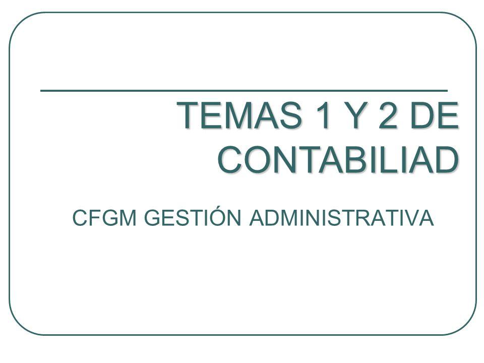 CFGM GESTIÓN ADMINISTRATIVA TEMAS 1 Y 2 DE CONTABILIAD