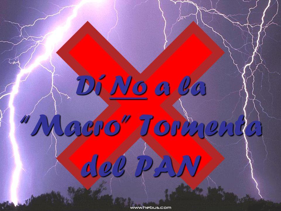 Dí No a la Macro Tormenta del PAN
