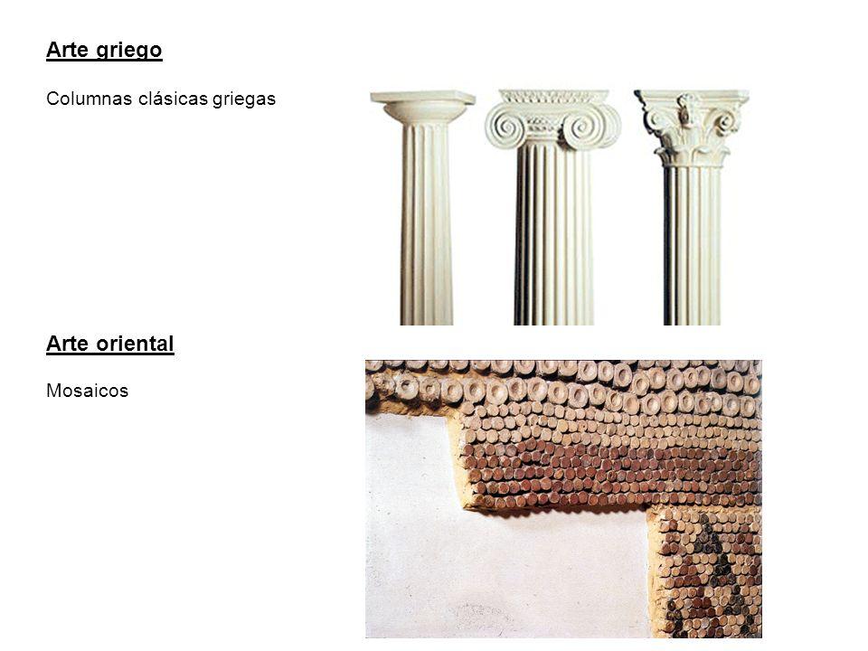 Arte griego Arte oriental Columnas clásicas griegas Mosaicos