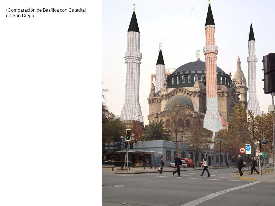 Comparación de Basílica con Catedral en San Diego