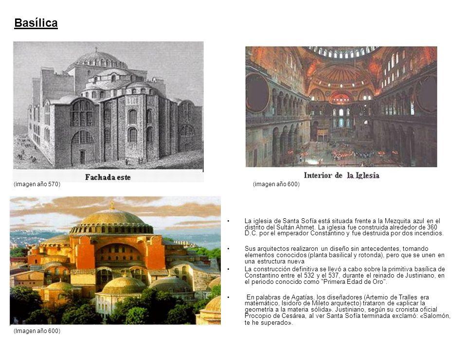 La iglesia de Santa Sofía está situada frente a la Mezquita azul en el distrito del Sultán Ahmet. La iglesia fue construida alrededor de 360 D.C. por