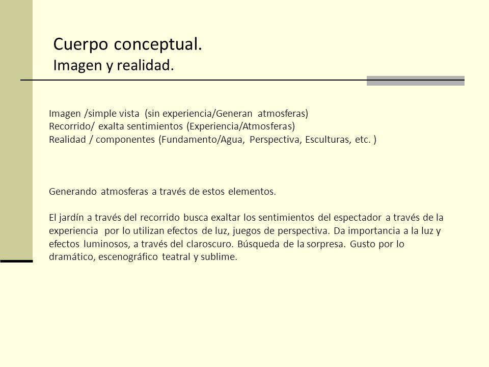 Imagen /simple vista (sin experiencia/Generan atmosferas) Recorrido/ exalta sentimientos (Experiencia/Atmosferas) Realidad / componentes (Fundamento/A