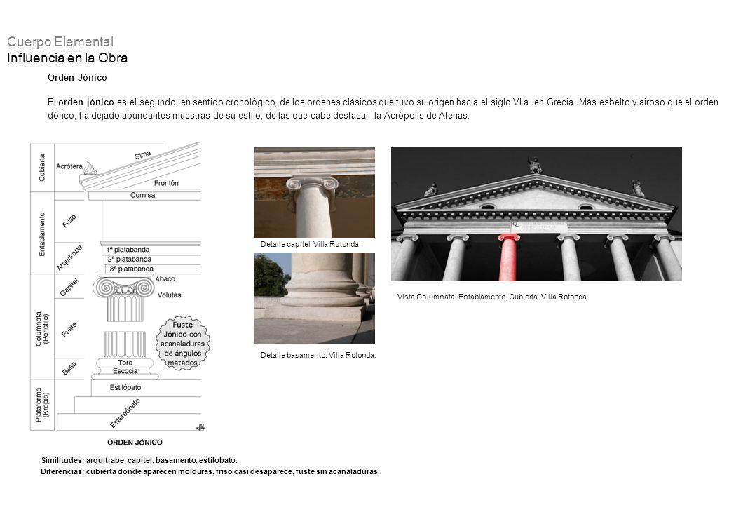 Orden Jónico El orden jónico es el segundo, en sentido cronológico, de los ordenes clásicos que tuvo su origen hacia el siglo VI a. en Grecia. Más esb
