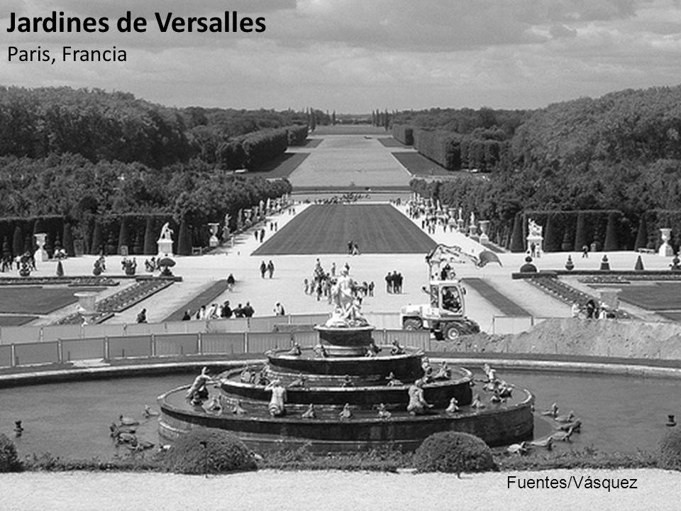 Cuerpo Conceptual La obra magna del Rey Sol, Luis XIV es un palacio y su inmenso jardín en Versalles, es la máxima manifestación del poder absoluto que se expresa hábilmente por el arquitecto paisajista André Le Nôtre.